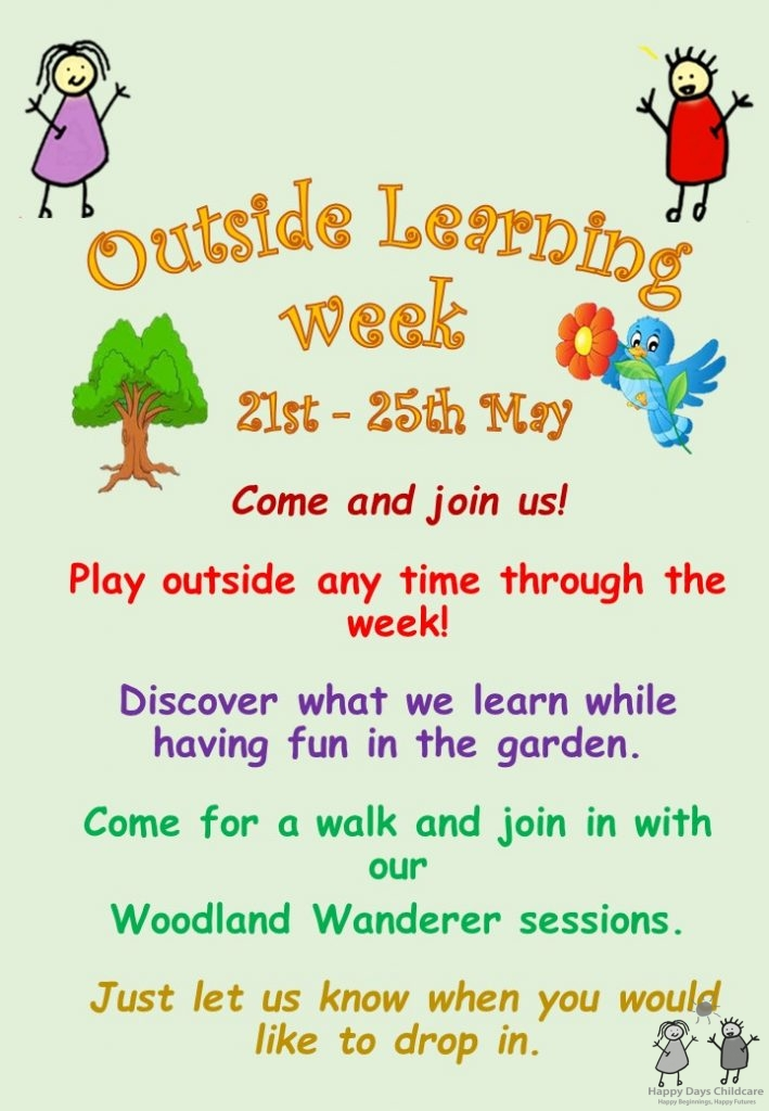 Outside learning with the children at Happy Days Childcarre