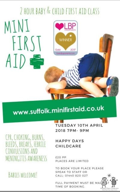 First Aid Course for Parents