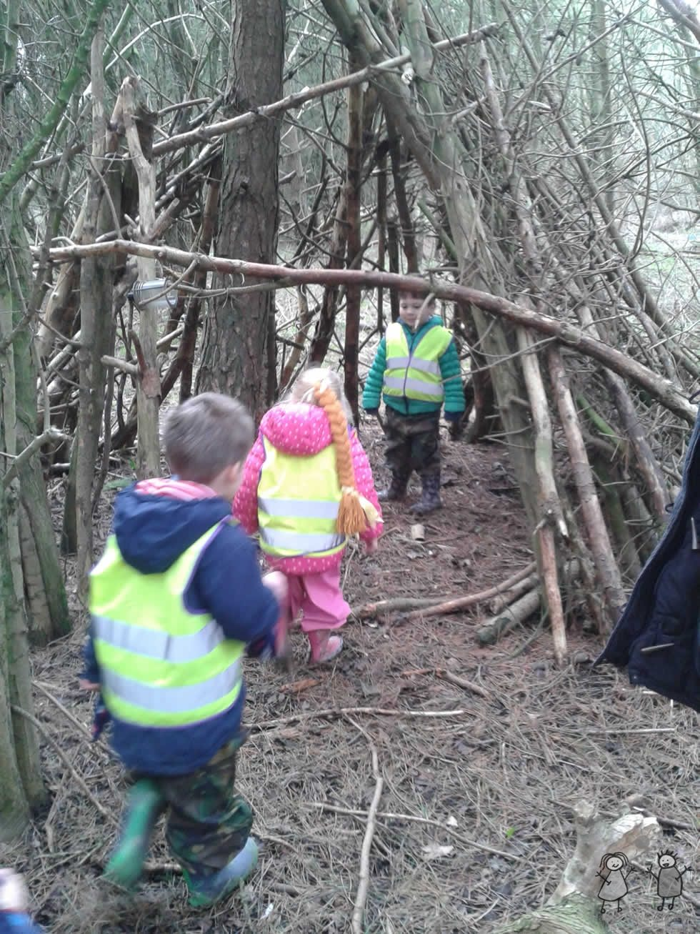 Woodland Wanderers activities at Happy Days Childcare in Suffolk.